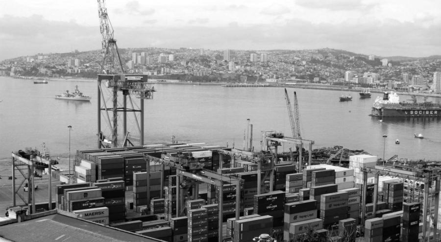 Chile puerto de Valparaiso la-tinta
