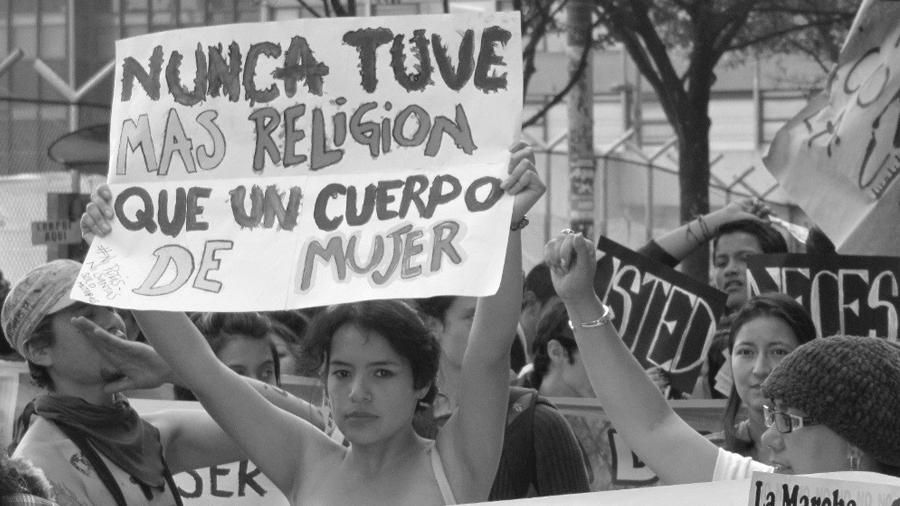 Colombia marcha mujeres la-tinta