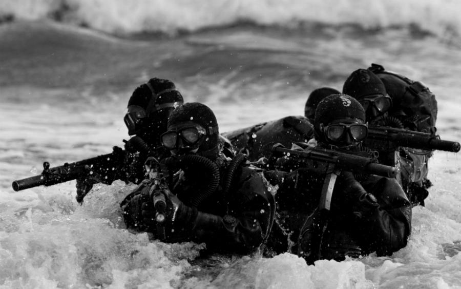 Estados Unidos soldados de la Marina de Guerra la-tinta
