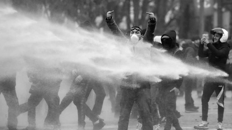Francia Chalecos Amarillos protesta la-tinta