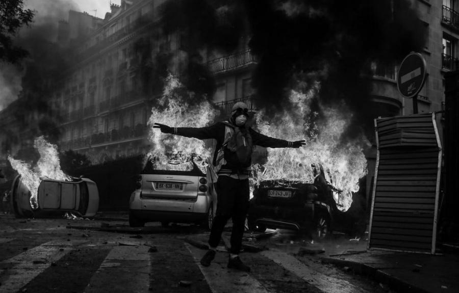 Francia protestas violentas chaleco amarillo la-tinta