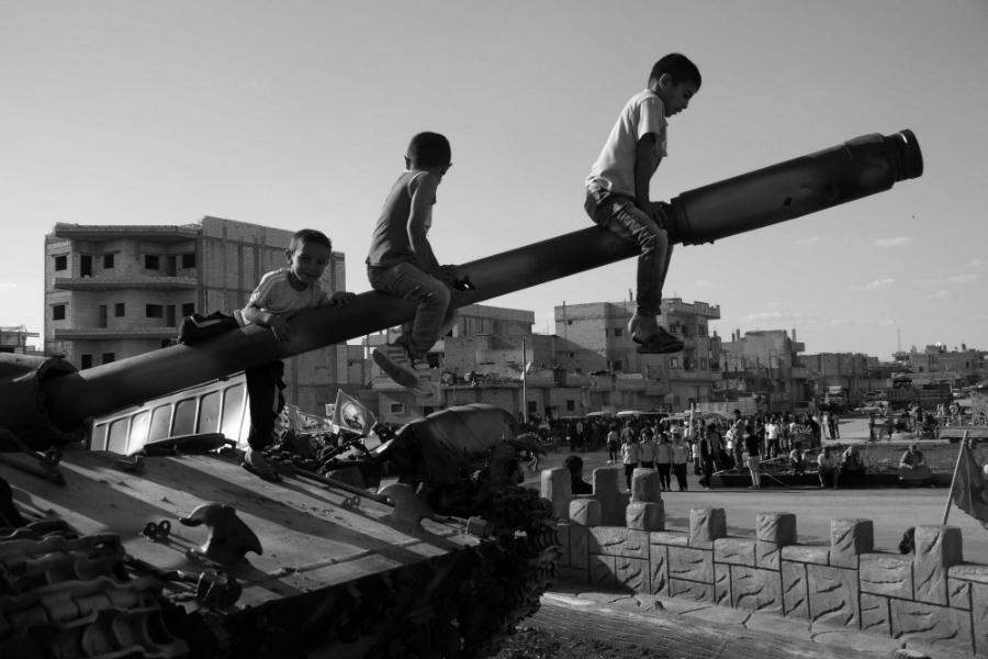 Kurdistan Kobane niños la-tinta