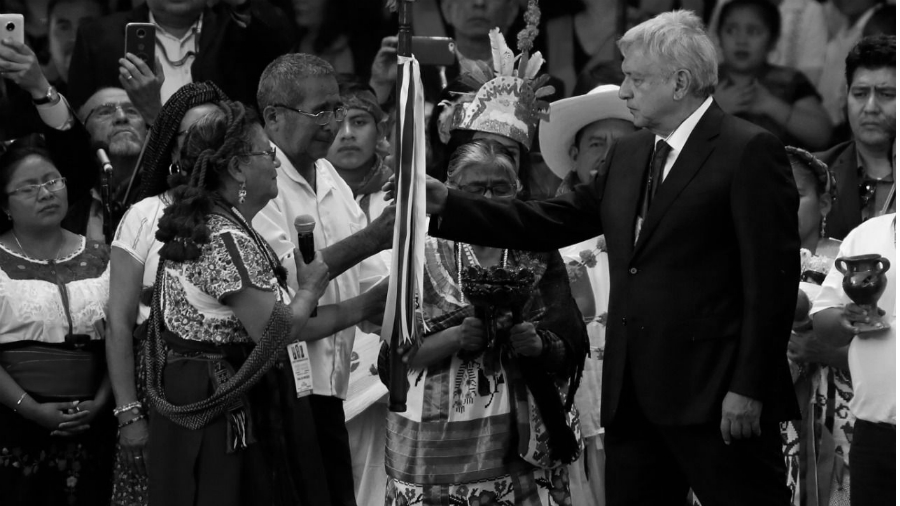 Mexico AMLO indigenas asuncion la-tinta