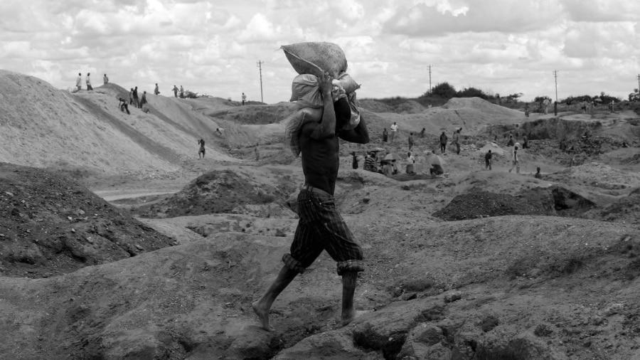 Africa mina de cobalto la-tinta