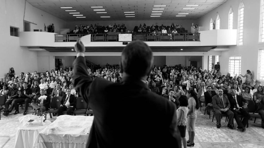 America Latina templo evangelico la-tinta