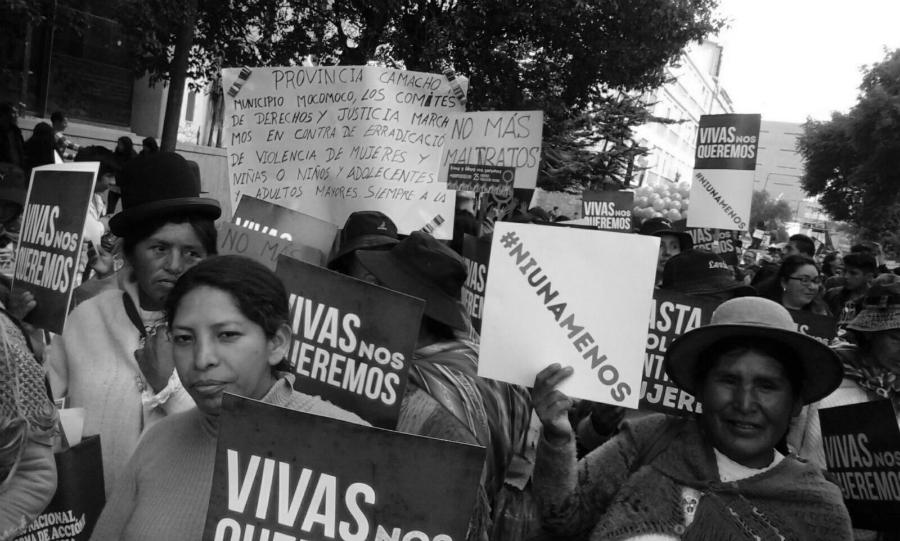 Bolivia Ni Una Menos la-tinta