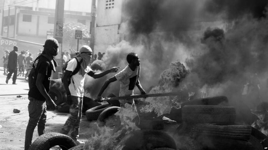 Haiti barricadas la-tinta
