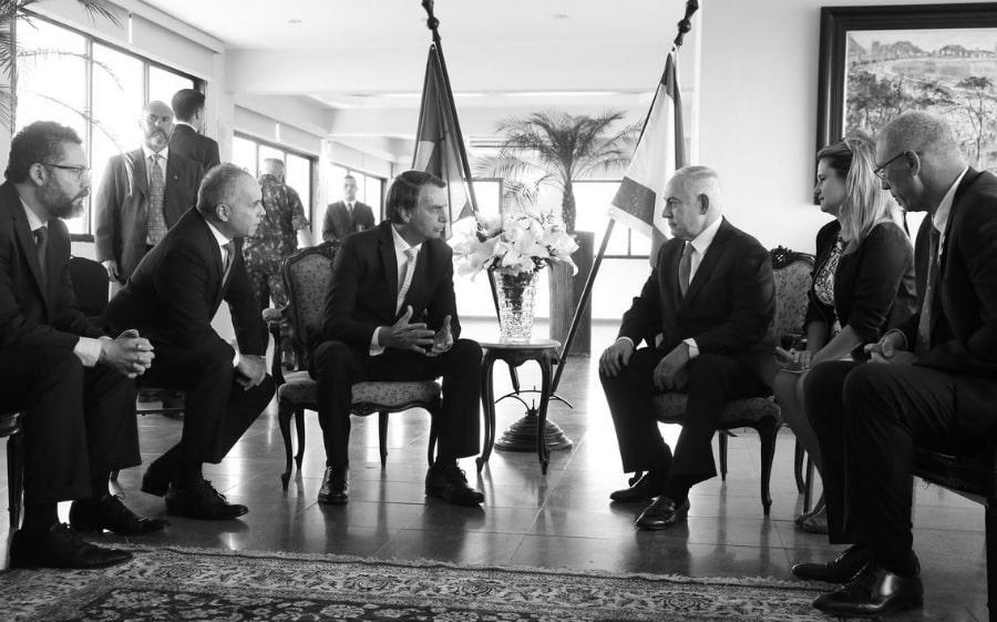 Israel Bolsonaro Netanyahu la-tinta