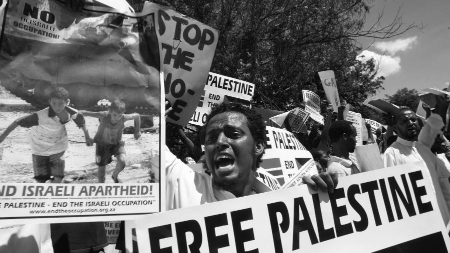 Palestina apoyo en Africa la-tinta