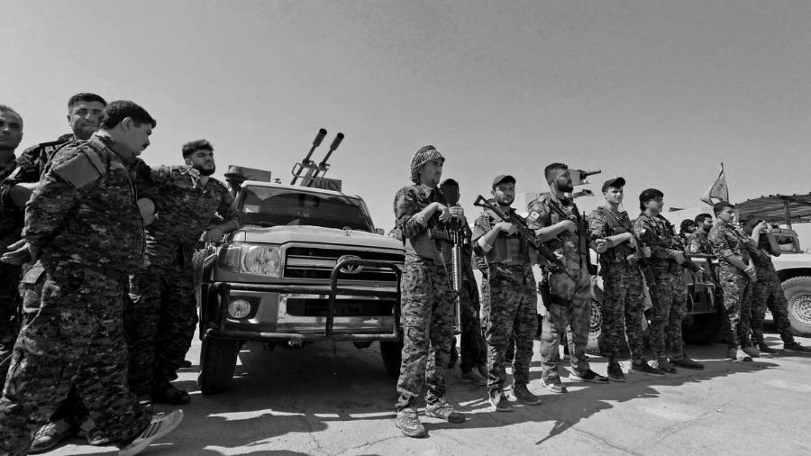 Rojava YPG milicianos la-tintaa