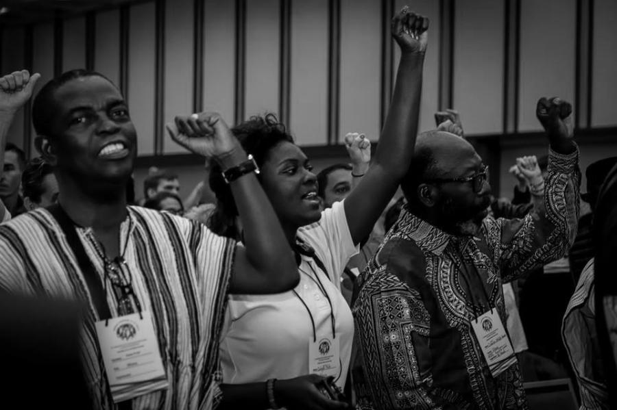 Venezuela Asamblea Internacional de los Pueblos participantes la-tinta