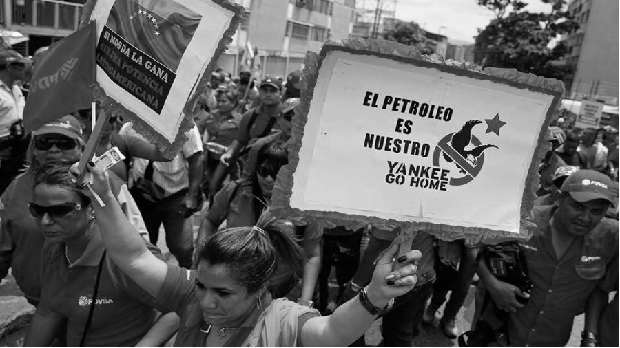 Venezuela marcha chavista la-tinta