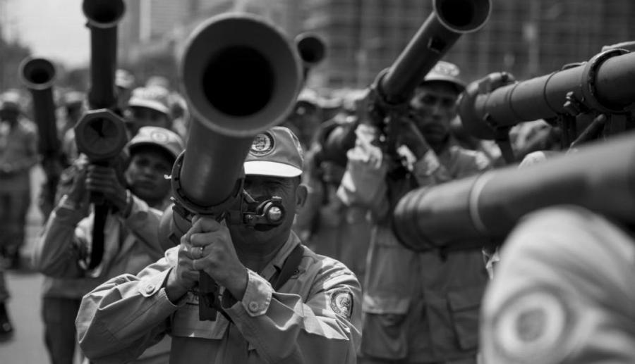 Venezuela milicia bolivariana la-tinta