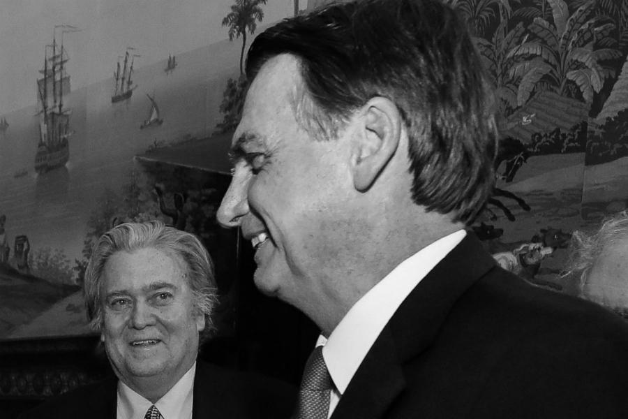 Brasil Jair Bolsonaro Steve Bannon la-tinta