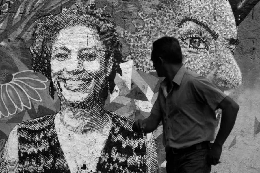 Brasil Marielle Franco mural la-tinta