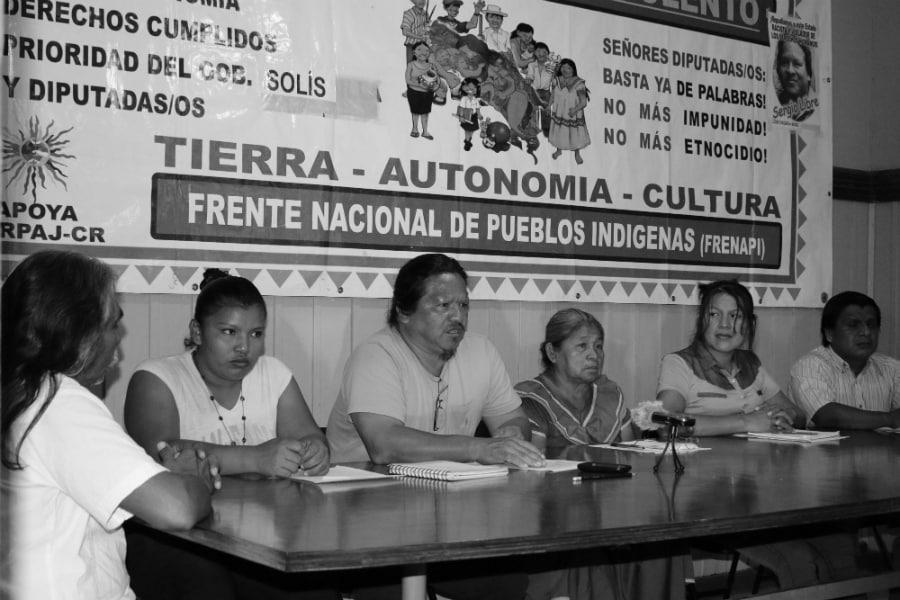 Costa Rica Frente Nacional de Pueblos Indigenas la-tinta