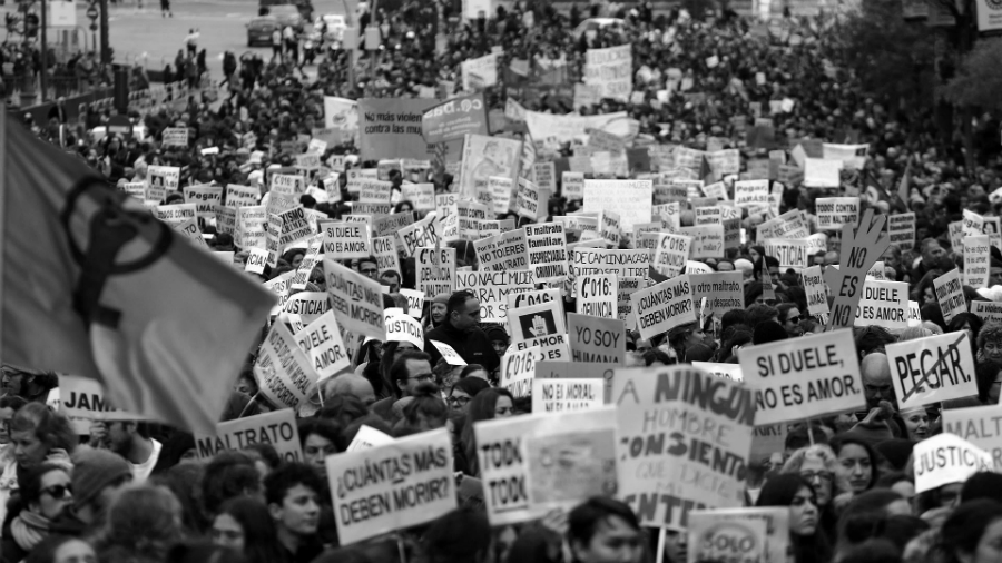 España marcha contra la violencia de genero la-tinta
