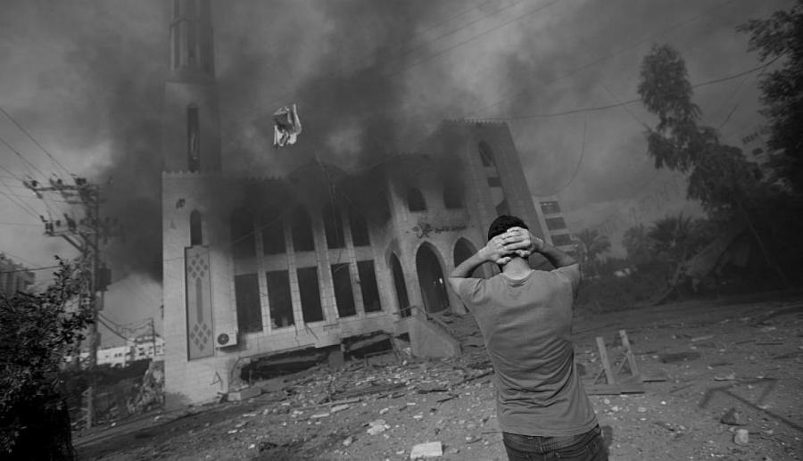 Palestina bombardeos israelies sobre mezquita la-tinta