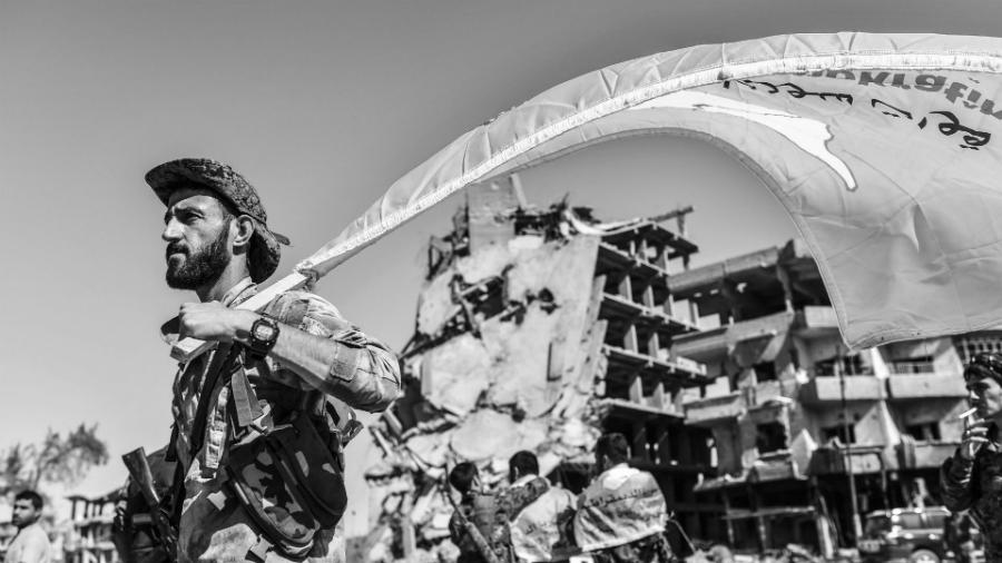 Sirias Fuerzas Democraticas de Siria la-tinta