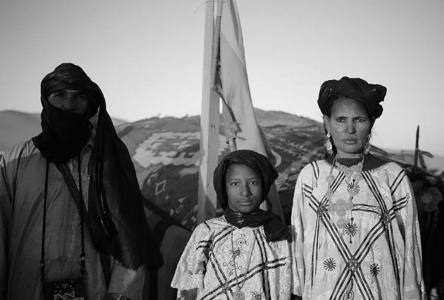 Tuareg mujeres desierto la-tinta