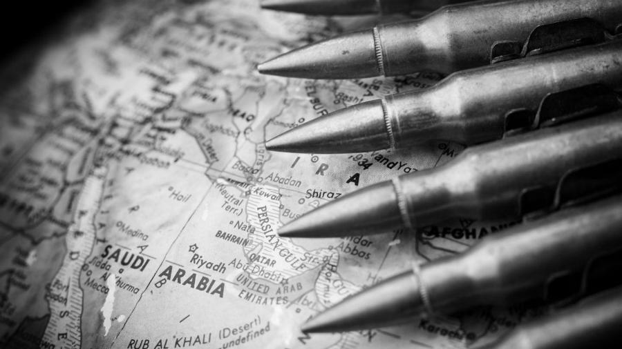 Arabia Saudi Armamento mapas la-tinta