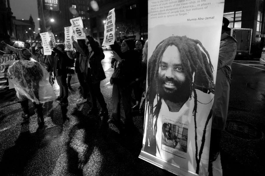 Estados Unidos Mumia Abu Jamal protesta la-tinta
