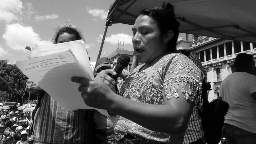 Guatemala Thelma Cabrera movilizacion la-tinta