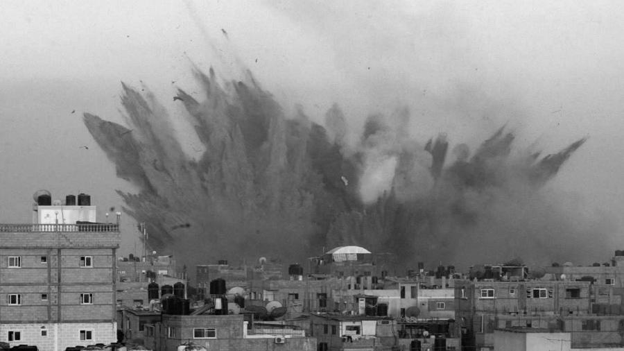 Palaestina Gaza bombardeo israeli la-tinta