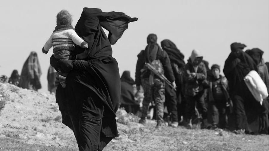 Siria Baghouz mujeres y niños de ISIS
