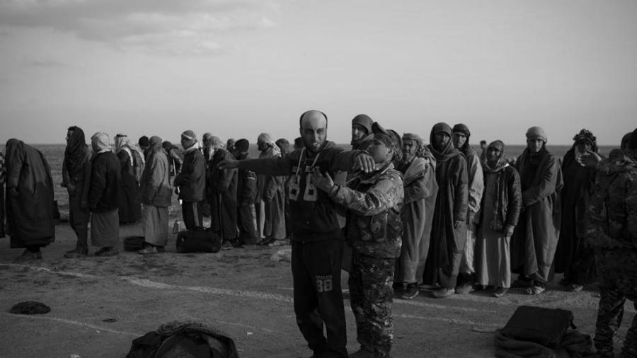 Siria FDS detenidos de ISIS