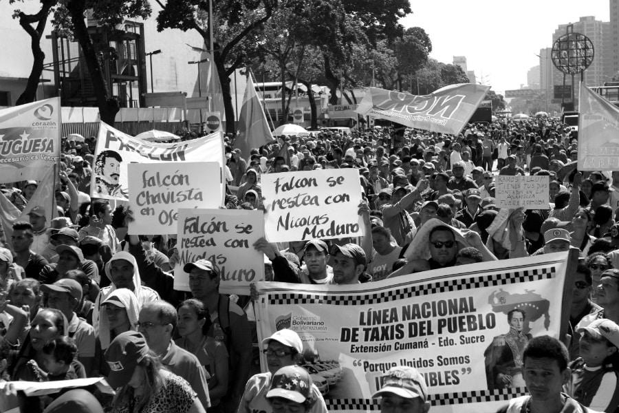 Venezuela movilizacion chavismo Miraflores la-tinta