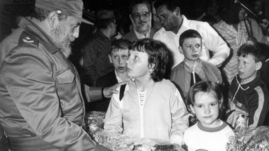 Cuba Fidel Castro niños de Chernobil la-tinta
