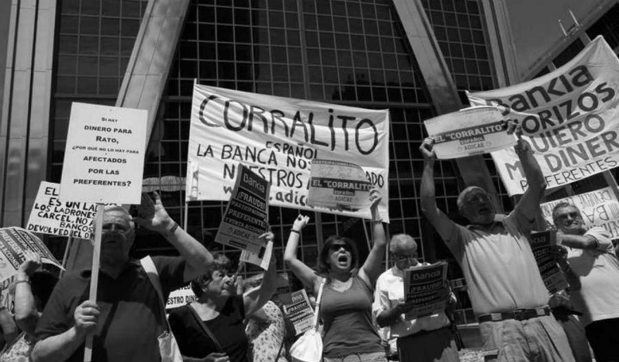 España protesta contra Bankia la-tinta