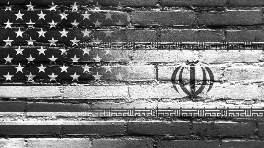 Estados Unidos Iran banderas la-tinta