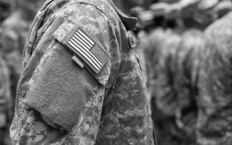 Estados Unidos militar bandera la-tinta