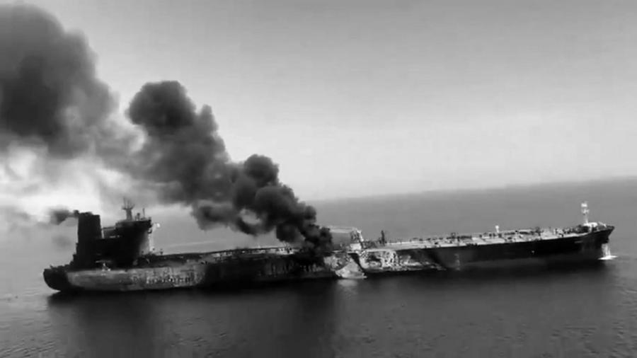 Golfo de Oman buque atacado la-tinta