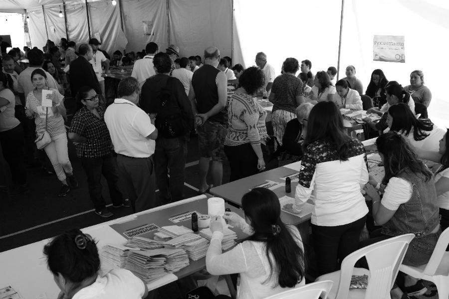Guatemala mesas electorales la-tinta