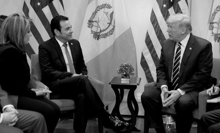Guatemala presidente Morales y Trump la-tinta