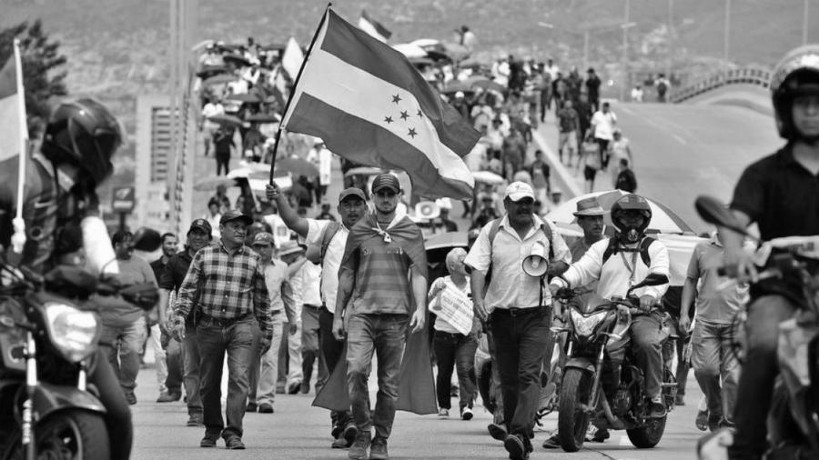 Honduras movilizacion la-tinta