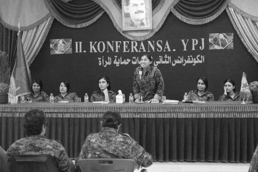 Kurdistan Rojava segunda conferencia YPJ la-tinta