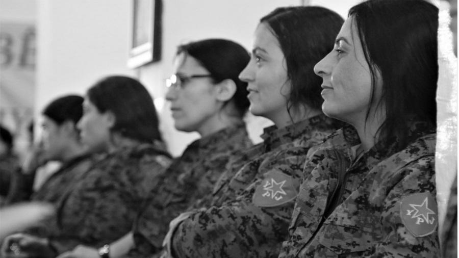 Kurdistan YPJ Rojava la-tinta