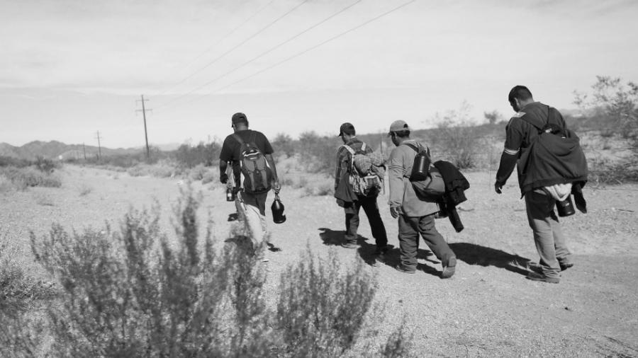 Mexico migrantes hacia Estados Unidos la-tinta