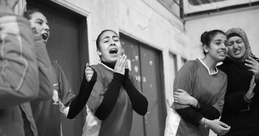 Palestina futbol femenino Diyar la-tinta