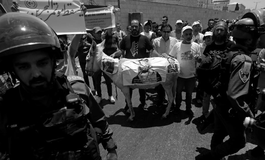 Palestina protestas contra conferencia de Bahrein la-tinta