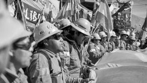 Gran marcha minera en Jujuy en apoyo a los trabajadores de Mina El Aguilar