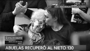 """Matías Javier Darroux Mijalchuk, el Nieto 130: """"Las abuelas son abrazos"""""""
