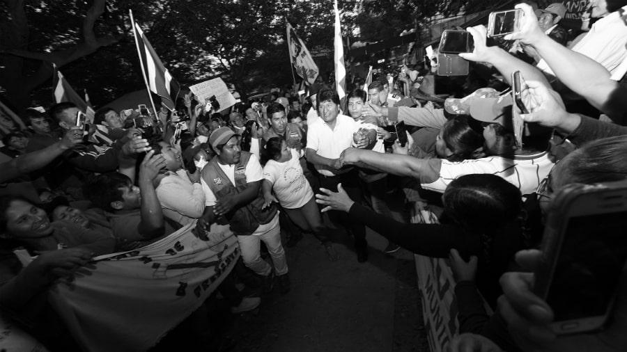 Bolivia Evo Morales campaña presidencial la-tinta
