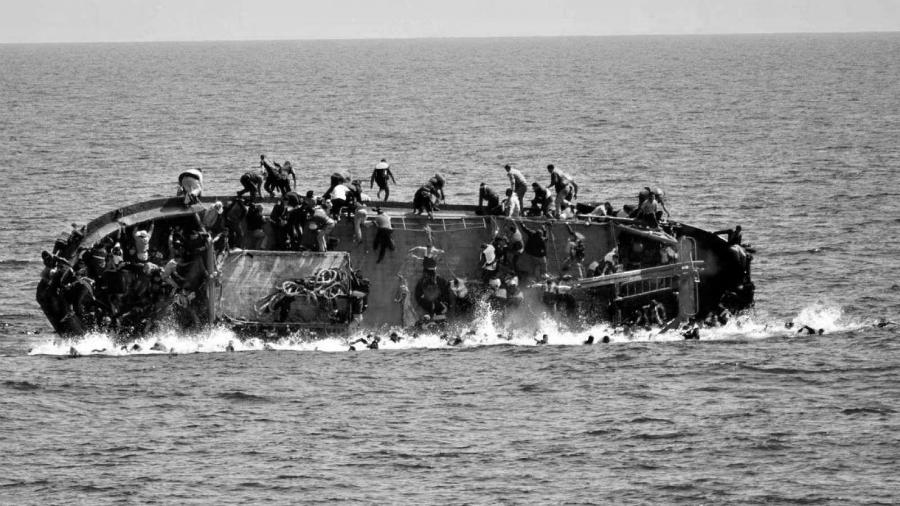Mar Mediterraneo migrantes a la deriva la-tinta
