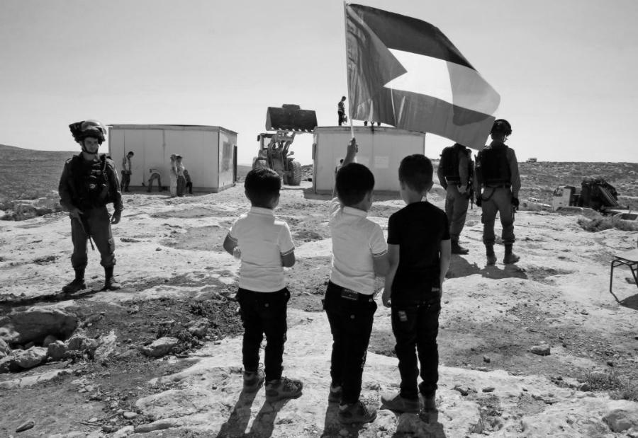 Palestinos niños contra la ocupación la-tinta