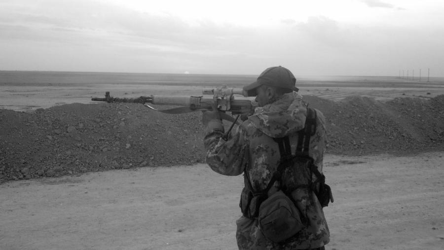Rojava Arges Artiaga francotirador la-tinta